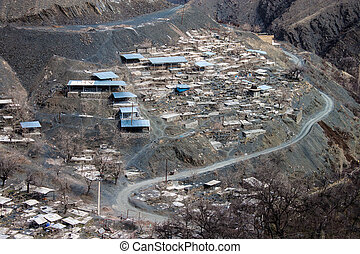 Village in mountains near Mashhad, Iran