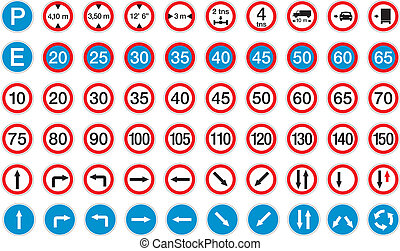 road signs in vector format pack 2