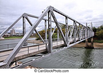Truss bridge in Japan - Okayama, Japan - city in the region...