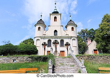 Koszeg, Hungary - town in Vas county. Kalvaria church.