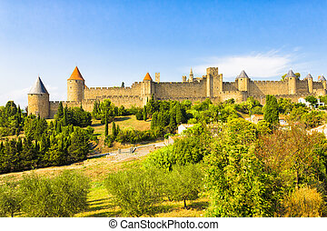 The city of Carcassonne, France