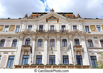Pecs, Hungary. City in Baranya county. The county hall.