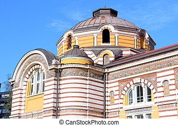 Sofia, Bulgaria - famous Central Mineral Baths building....