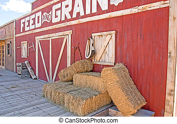 feed and grain store - a barn like feed and grain store with...