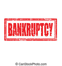 Bankruptcy-stamp - Grunge rubber stamp with word...