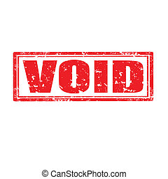 Void-stamp - Grunge rubber stamp with word Void,vector...