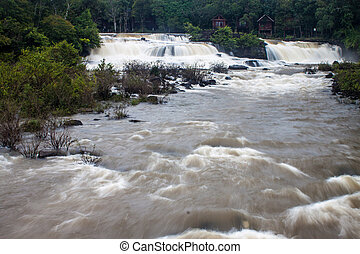 Tat Hang waterfall in Laos
