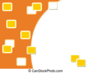 Orange background with copy space