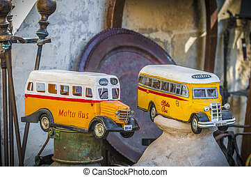 Malta's, colourful, buses, Gozo