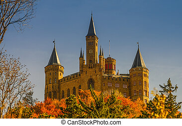 Beautiful Autumn in Hohenzollern Castle and around, Germany...