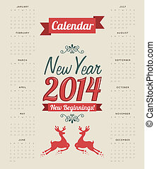 happy new year 2014 over beige background vector...