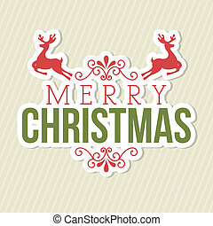 merry christmas over lineal background vector illustration...