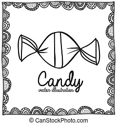 candy drawing over white background vector illustration