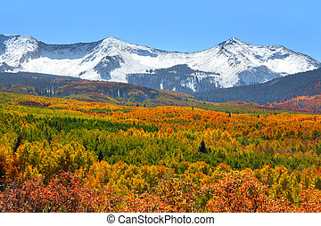 Kebler pass landscape - Snow covered mountains at Kebler...