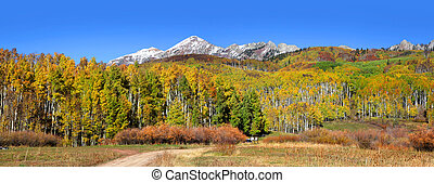 Gunnison national forest - Panoramic view of Gunnison...