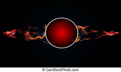 Red Circle logo energy - Red Circle logo with abstract...