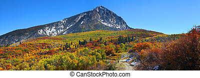 Kebler pass - Scenic view of Beckwith mountain at Kebler...