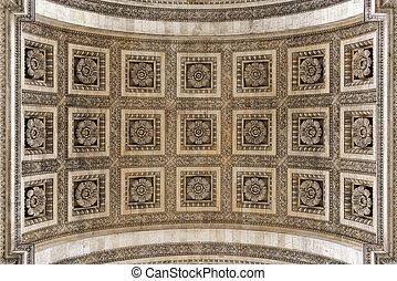 Arc de Triomphe arch detail