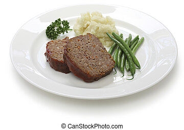 classic meatloaf, american food
