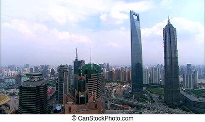 shanghai time-lapse - shanghai landmark