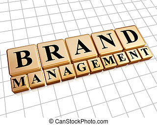 brand management in golden cubes - brand management - text...