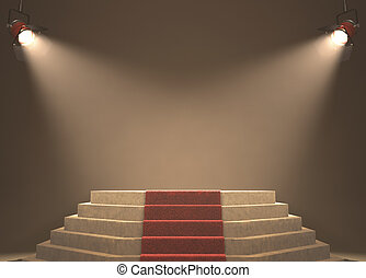 Very Important Person - Lights illuminating the podium Your...