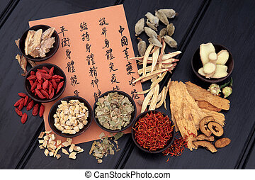 Healthy Lifestyle - Traditional chinese herbal medicine...