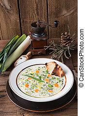 leek cheese soup