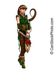 Santas Little Helper Amy CA, 3d CG - 3d computer graphics of...