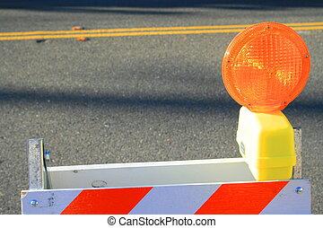 Warning Road Sign