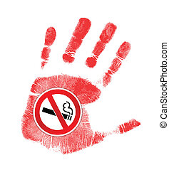 stop smoking illustration design over a white background