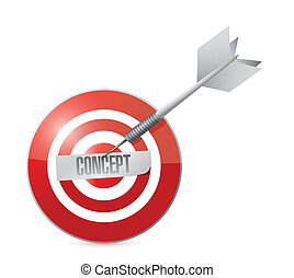 concept target power. illustration design