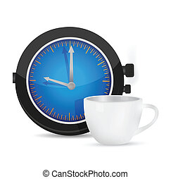 time for coffee illustration design