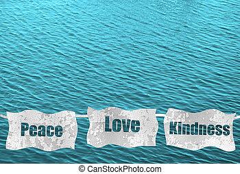 paz, amor, amabilidad, Océano, Plano de fondo