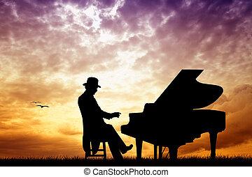 pianista, concierto