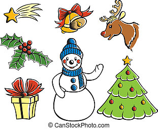 Christmas cartoon set