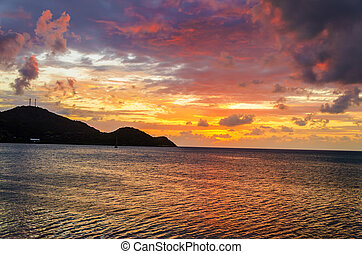 Vibrant Tropical Sunset - Stunning sunset of the Caribbean...