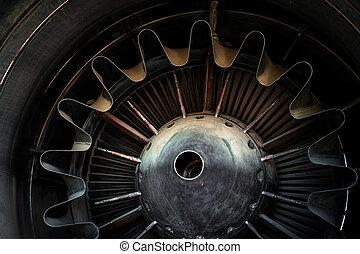 Photo of a jet engine - Closeup photo of a jet engine