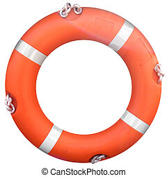 Life buoy isolated over a white background
