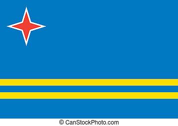 Aruba flag - Vector Aruba flag Caribbean island flag