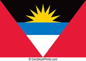 Antigua and Barbuda flag - Vector Antigua and Barbuda...
