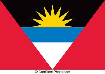 Antigua and Barbuda flag - Vector Antigua and Barbuda...