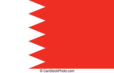 Bahrain - Vector Kingdom of Bahrain flag