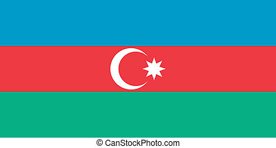 Azerbaijan flag - Vector Republic of Azerbaijan flag