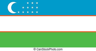 Uzbekistan flag - Vector Republic of Uzbekistan flag