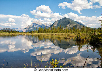 Second Vermillion Lake, Banff, Alberta, Canada - View on...