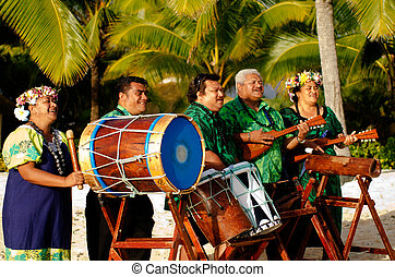 Polynesian Pacific Island Tahitian Music Group - Group...