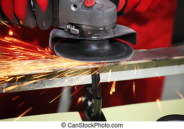 sparks - Metall sparks from the grinding machine