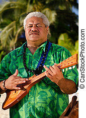 Polynesian Pacific Island Tahitian Music - Portrait of...