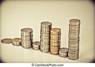 Indian Coins Stack in form of bar graph